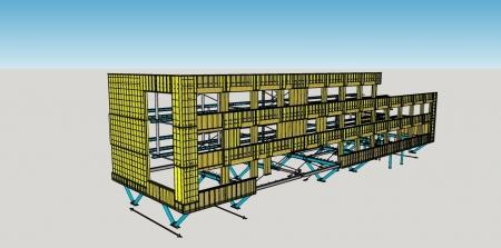 HSB wanden voor kantoorpand in Limburg